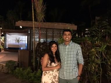At the Radisson Blu Resort for Thai dinner