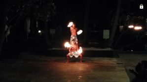 Fire dance at the hotel - 2