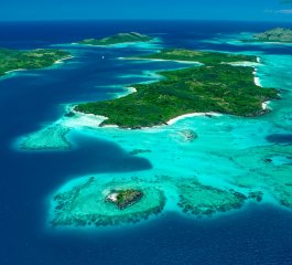 Aerial View of Yasawa Islands (courtesy of Google)