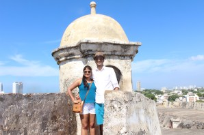 At the top of Castillo San Felipe