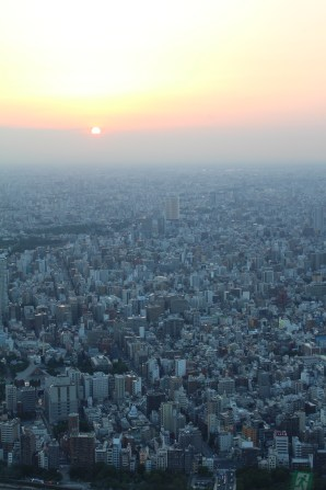 Sunset view from Tokyo Skytree