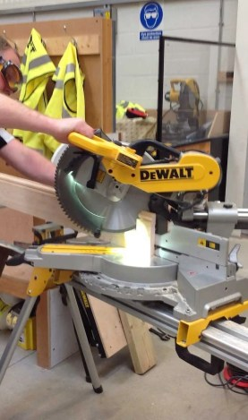 dws780 from Dewalt in cutting action