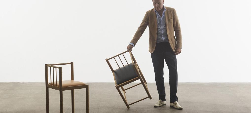 Blachmann aktuel med designer-stol