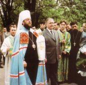 21 mai 2000. Împreună cu Președintele Parlamentului RM dl. Dumitru Diacov în vizită la mănăstirea Curchi