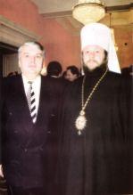 Mitropolitul Vladimir și primarul - general al municipiului Chișinău, dl. Serafim Urecheanu
