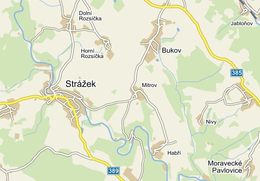 Ubytování v okolí Mitrova