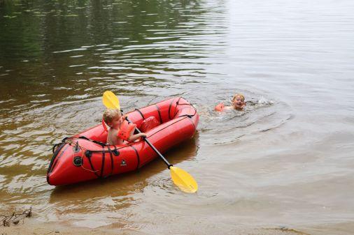 ein letztes Bad im See