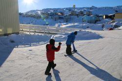 Kamera und Snowscooter werden getestet und für gut befunden