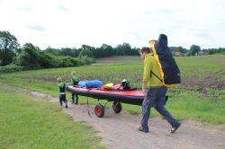 Landtransport per Bootswagen