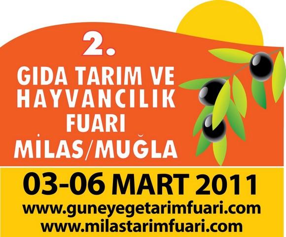 2. MİLAS Gıda, Tarım ve Hayvancılık Fuarı 3- 6 Mart ta