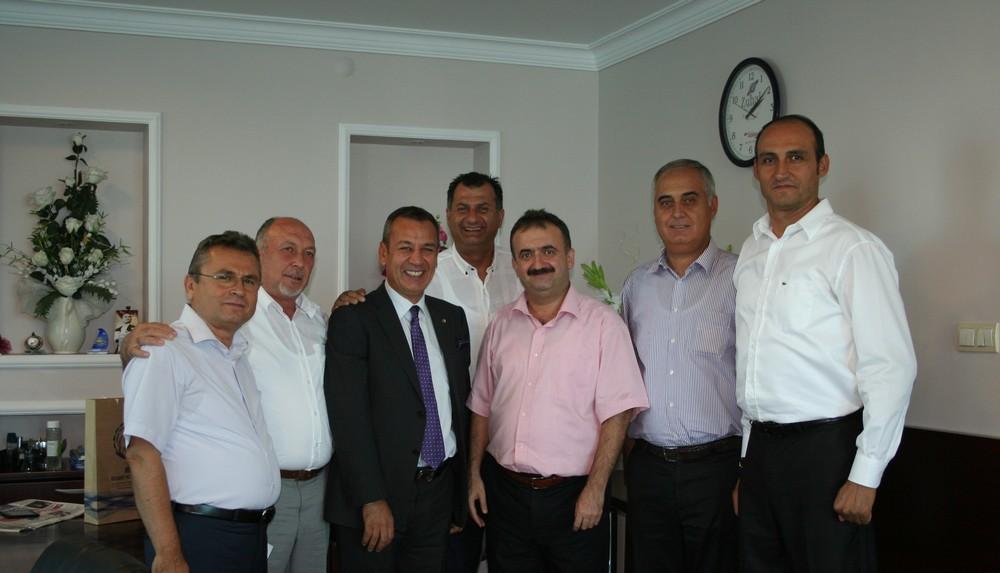 MİTSO Muğla Vergi Dairesi Başkanı Zafer Evci'yi ziyaret etti.