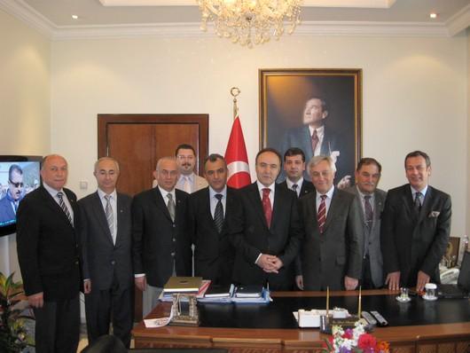 MİTSO yönetimi Muğlayı yönetenleri ziyaret ettiler