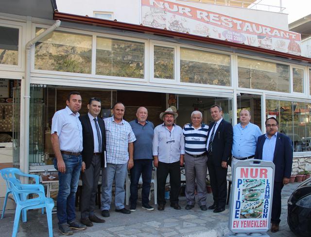 MİTSO ÖREN'DE…  MİTSO NUR OTEL, RESTORANT VE PİDE SALONU'NU ZİYARET ETTİ