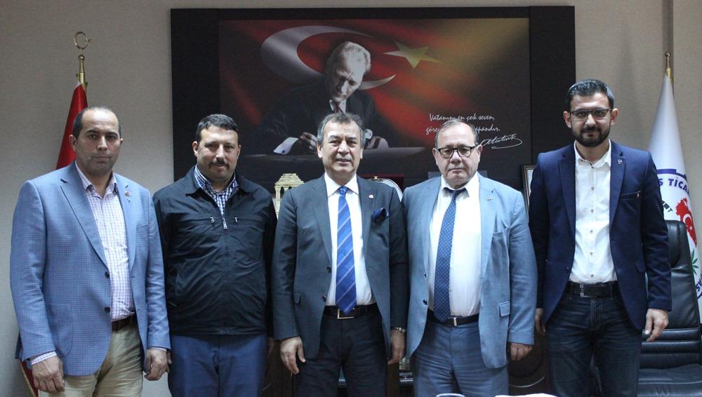 MHP Milas İlçe Yöneticilerini ağırlayan MİTSO Yönetim Kurulu Başkanı Reşit Özer: