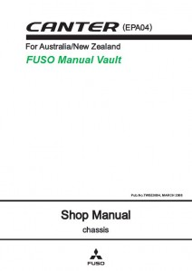 Mitsubishi FUSO Canter FE FG Truck (EPA04 AUS/NZ) Service Manual PDF Download