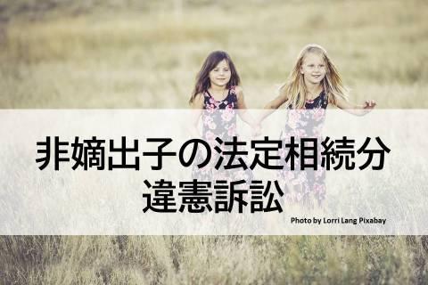 非嫡出子の法定相続分差別訴訟【判例解説】