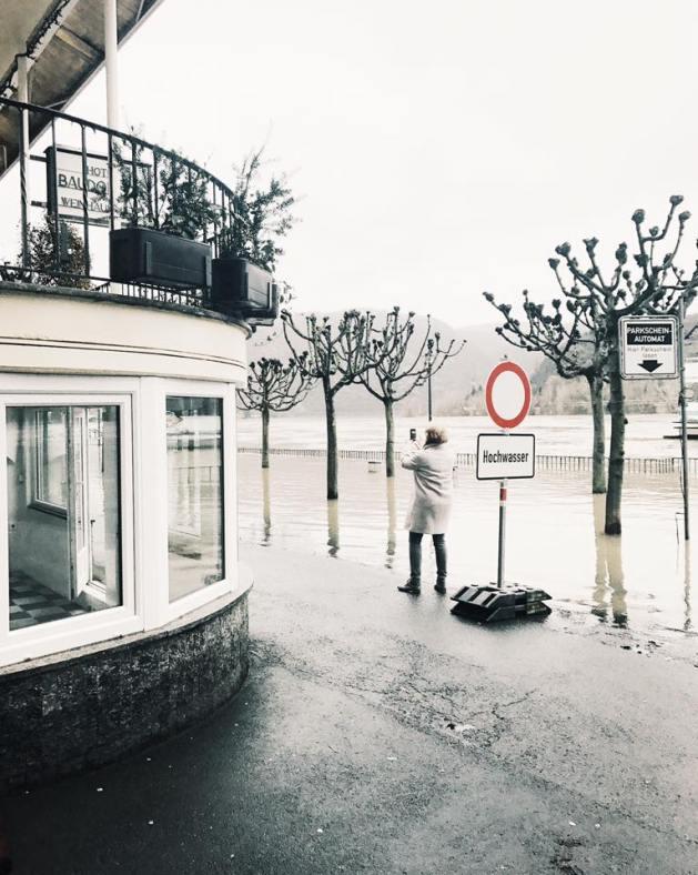 2. Januarhochwasser 2018 in St. Goar - fotografiert von Sandra Bruns.
