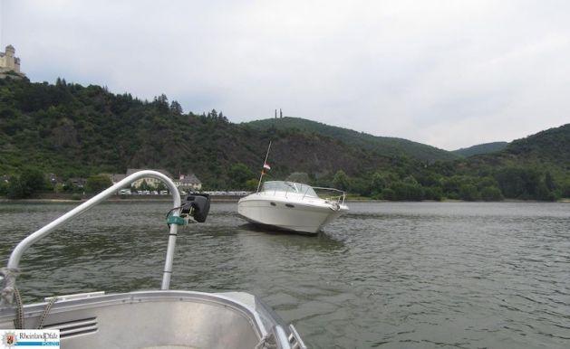 Sportboot-Unfall bei Braubach. Foto: polizei Rheinland-Pfalz