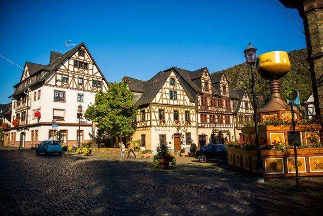 Marktplatz in Oberwesel. Foto: Romantischer Rhein Tourismus / Henry Tornow