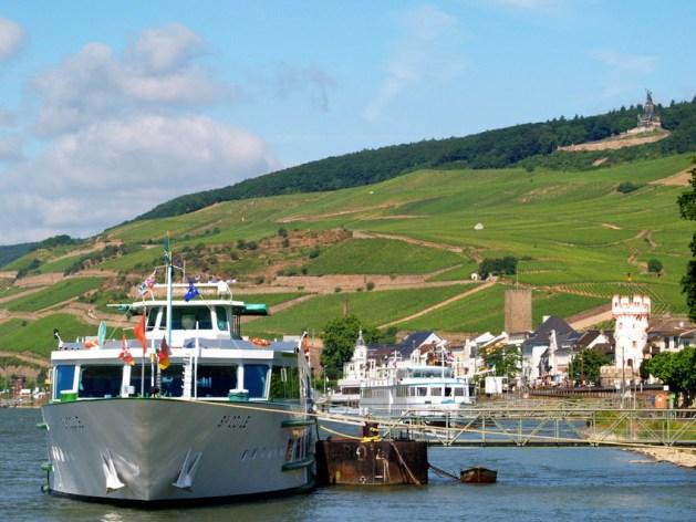 Das Rheinufer bei Rüdesheim. Foto: Rüdesheim Tourist AG / Karlheinz Walter.
