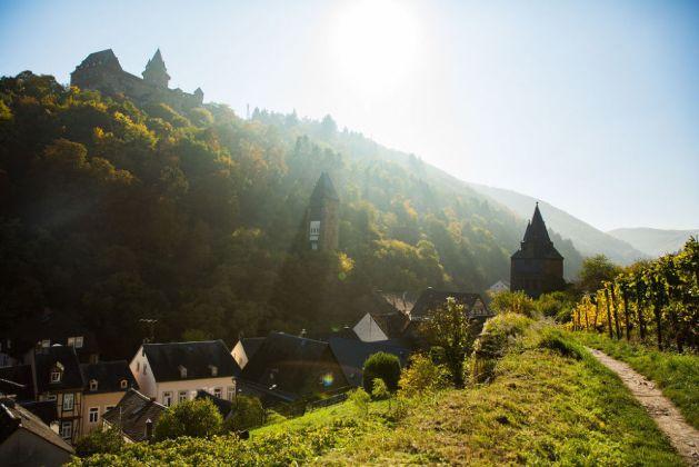 Burg Stahleck über Bacharach. Foto: Romantischer Rhein Tourismus / Henry Tornow