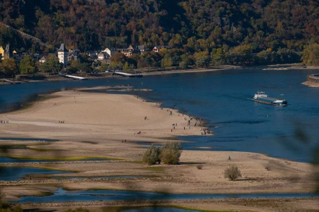 Niedrigwasser bei Bacharach. Foto: Herbert Piel