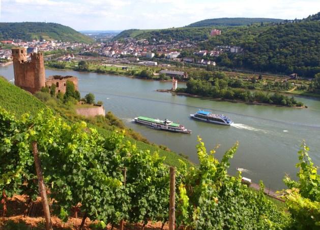 Blick auf Bingerbrück. Foto: Rüdesheim Touristik / Karlheinz Walter.