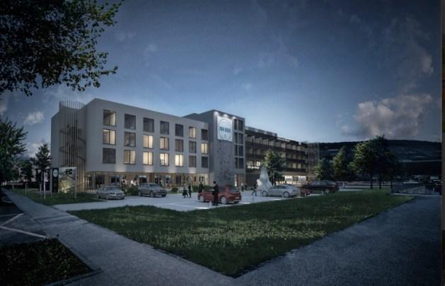 """So soll """"Papa Rhein"""" bei Nacht aussehen. Foto: Urban Stay Hotels"""