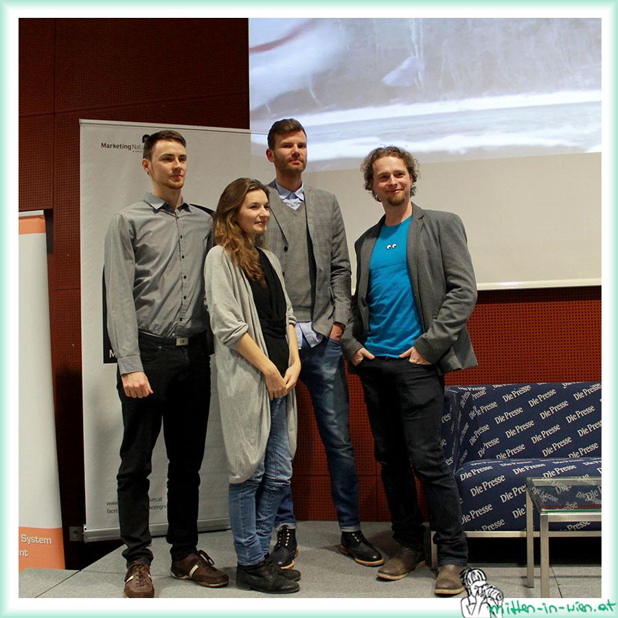 Speaker v.l.n.r.: Stefan Häckel, Monika Kanokova, Robert Weller, Christoph Richter