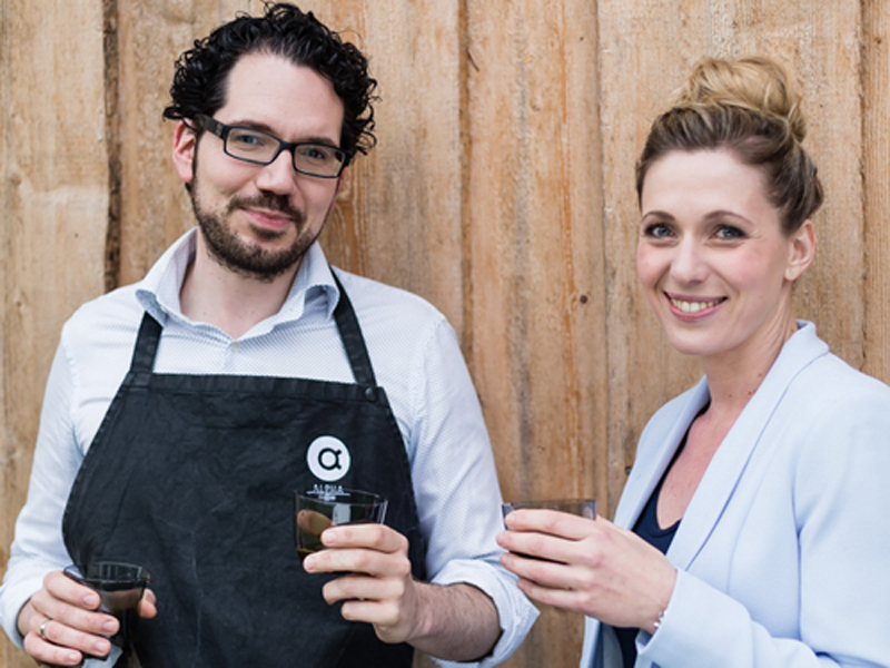Karina und Daniel Fasch von ALPHA coffee. (c) ALPHA coffee