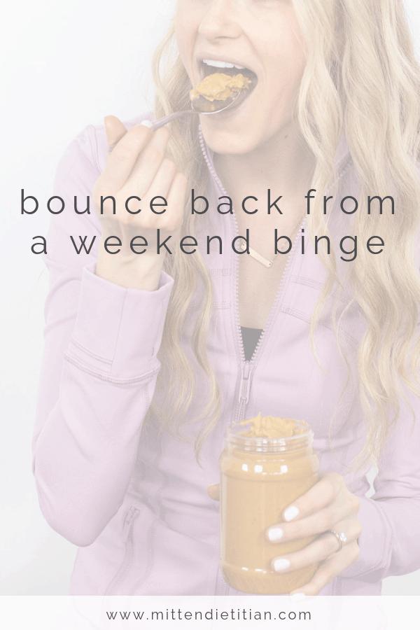 bounce back from a weekend binge