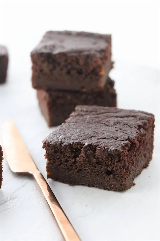 Sweet Potato Brownies Cut
