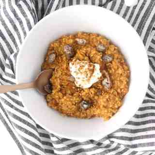 five minute pumpkin pie oatmeal