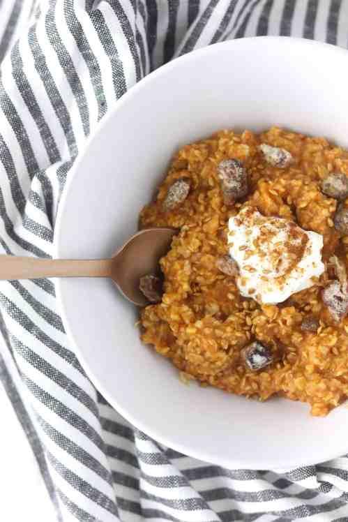 five minute pumpkin pie oatmeal