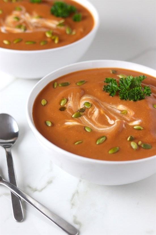 creamy butternut squash & tomato soup