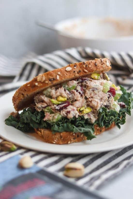 Cranberry Pistachio Tuna Salad