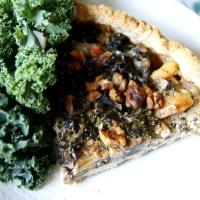 svamp- och grönkålspaj (vegan)