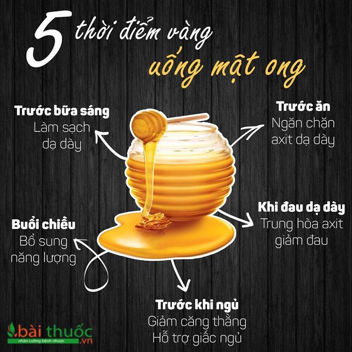 Các thời điểm uống mật ong giảm cân