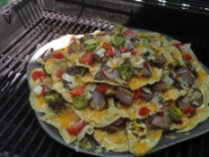 Nachos on the grill