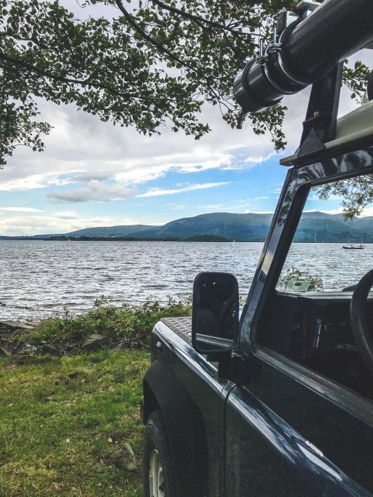 Campen am Loch Lomond