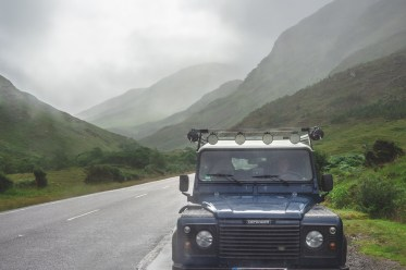 Defender in den Highlands
