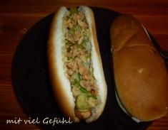 Veggie-Hotdogs für den Lieblingsmann.