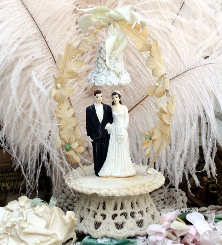 Charming Vintage Wedding Cake Toppers   Mitzi s Miscellany They are also inexpensive  most of the time  although some can be quite  elaborate  I paid  8 to  35 for most of the cake toppers in my collection