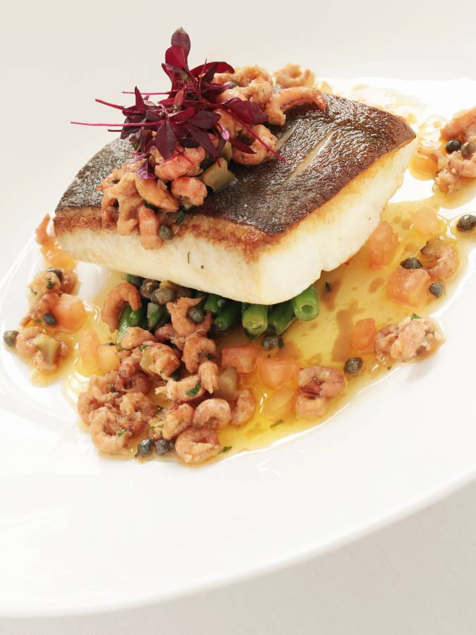 Healthy Plated Halibut