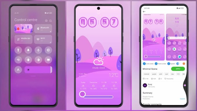 Minimal-Scene-MIUI-Theme-for-Xiaomi-Redmi-POCO-Devices-Purple-Theme