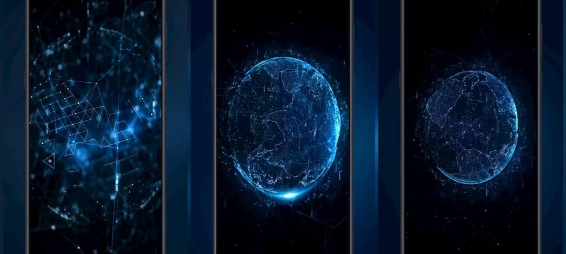 Technology-wireframe-earth-MIUI-Video-Wallpaper