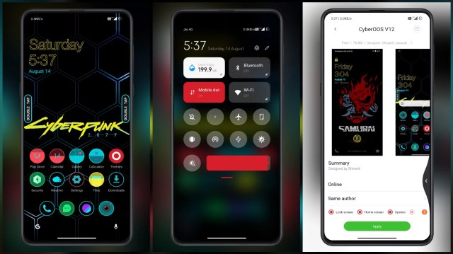 Cyberpunk-MIUI-Theme-with-AOD-for-LCD-Screen-Dual-Mode