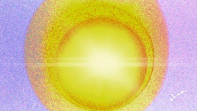 «Una pequeña esfera de Luz se desprende y desciende hacia ti hasta que se sitúa frente a tu rostro.»
