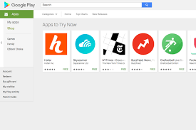 Try now button added on Play Store listings to highlight