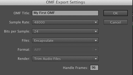 premiere-omf-settings